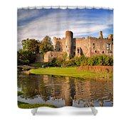 Laugharne Castle 1 Shower Curtain