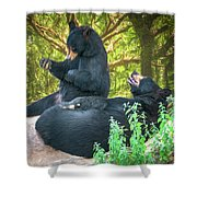 Laughing Bears Shower Curtain