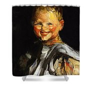 Laughing Child 1907 Shower Curtain
