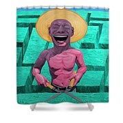 Laughing Gardener Shower Curtain