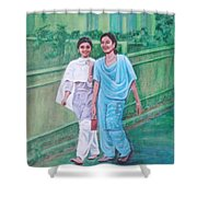 Laughing Girls Shower Curtain