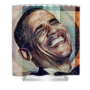 Laughing President Obama V2 Shower Curtain