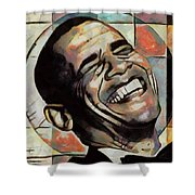 Laughing President Obama Shower Curtain