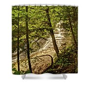 Laughing Whitefish Falls 2 Shower Curtain by Michael Peychich