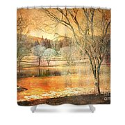 Laughter Amongst Trees Shower Curtain