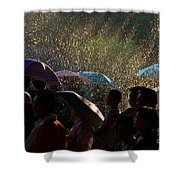 Laughter In The Rain Shower Curtain