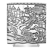Launcelot Of The Lake Shower Curtain