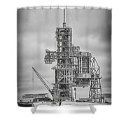 Launch Pad 39a Shower Curtain
