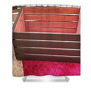 Laundry Crate Shower Curtain