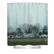 Laundry Day At The Dairy Farm Shower Curtain