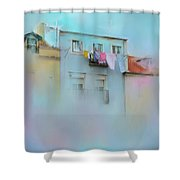 Laundry Day Blues Shower Curtain