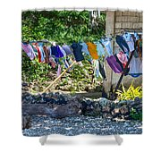 Laundry Drying In The Wind Shower Curtain