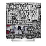 Laundry Line - Dubrovnik Croatia #3 Shower Curtain
