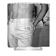 Laundry Mood Palm Springs Shower Curtain
