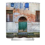 Laundy Hangs In Venice Shower Curtain