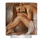 Laura Shower Curtain by Arthur Braginsky