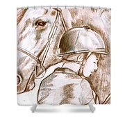 Laura's Horse Shower Curtain