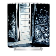 Laura's Painting Shower Curtain by Ludzska