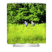 Laurel Hill Park Road Shower Curtain