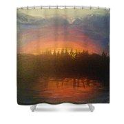 Laurel Lake Shower Curtain