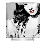 Lauren Bacall Large Size Portrait 2 Shower Curtain