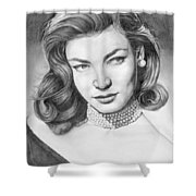 Lauren Bacall Shower Curtain