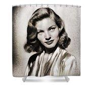 Lauren Bacall, Vintage Actress Shower Curtain
