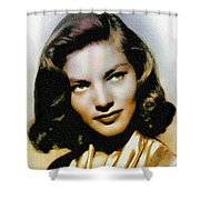 Lauren Bacall - Vintage Painting Shower Curtain