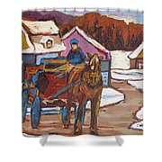 Laurentian Carriage Ride Shower Curtain