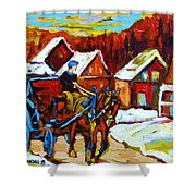 Laurentian Village Ride Shower Curtain
