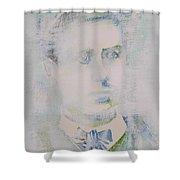 Lautreamont - Watercolor Portrait.3 Shower Curtain