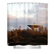Lauttasaari Water Tower Shower Curtain