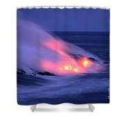 Lava And Pink Smoke Shower Curtain