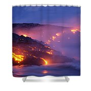 Lava At Twilight Shower Curtain