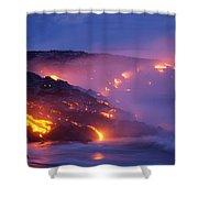 Lava At Twilight Shower Curtain