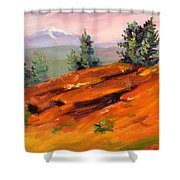 Lava Butte Shower Curtain