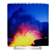 Lava Explodes Shower Curtain