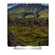 Lava Field And Mountain - Iceland Shower Curtain