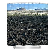 Lava Flow And Schonchin Butte, Lava Beds Nm, California, Usa Shower Curtain