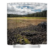 Lava Flow At Hand Lake Shower Curtain