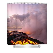 Lava Flows At Sunrise Shower Curtain by Peter French - Printscapes