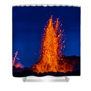 Lava Fountains At The Holuhraun Fissure Shower Curtain