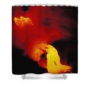 Lava Into The Sea Shower Curtain