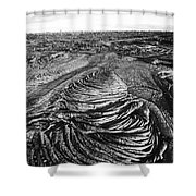 Lava Landscape - Bw Shower Curtain
