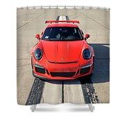 Lava Orange #porsche 911 #gt3rs #print Shower Curtain