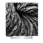 Lava Patterns - Bw Shower Curtain