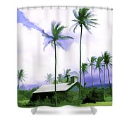 Lava Rock Church Shower Curtain