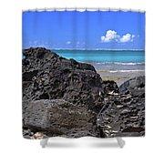 Lava Rocks At Haena Beach Shower Curtain