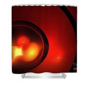 Lava Sphere Shower Curtain
