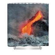 Lava Torrent Shower Curtain